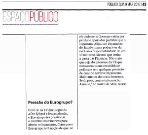 16-03-09 Pressão do Eurogrupo-contra informação, Público papel