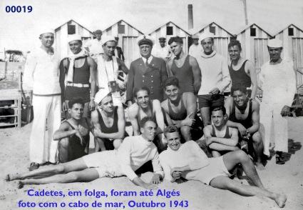 00023 943-10 cadetes foram rio abaixo até praia de Algés
