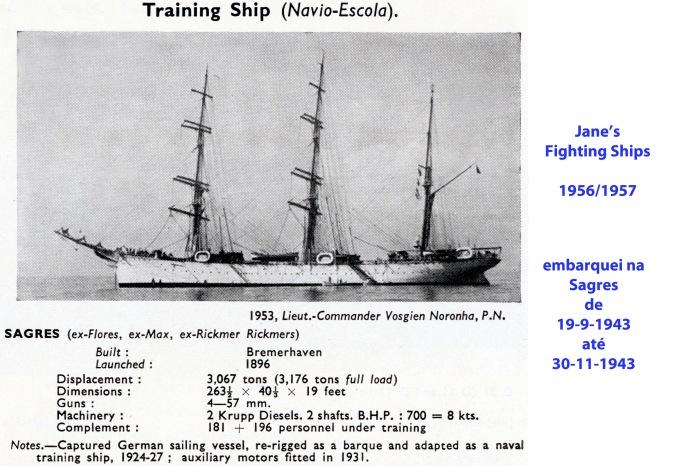 00036 SAGRES - segundo Janes Fighting Ship's 1956-57