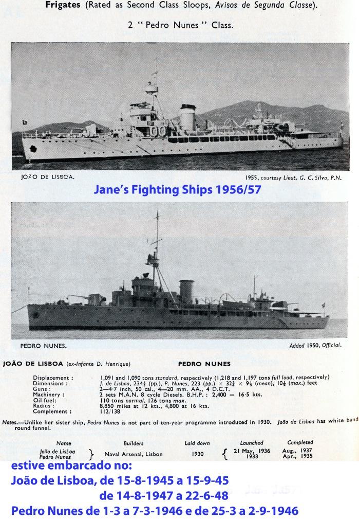 00053 Avisos de 2ª classe da Classe Pedro Nunes -Fighting Ships 1956-57