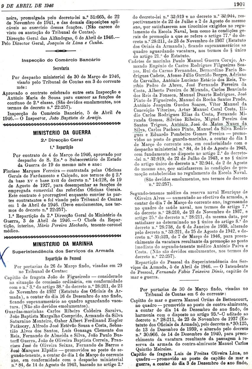 00073 946-04-09 promoção Guarda-Marinha - Port publicada DG II Série nº 82-2