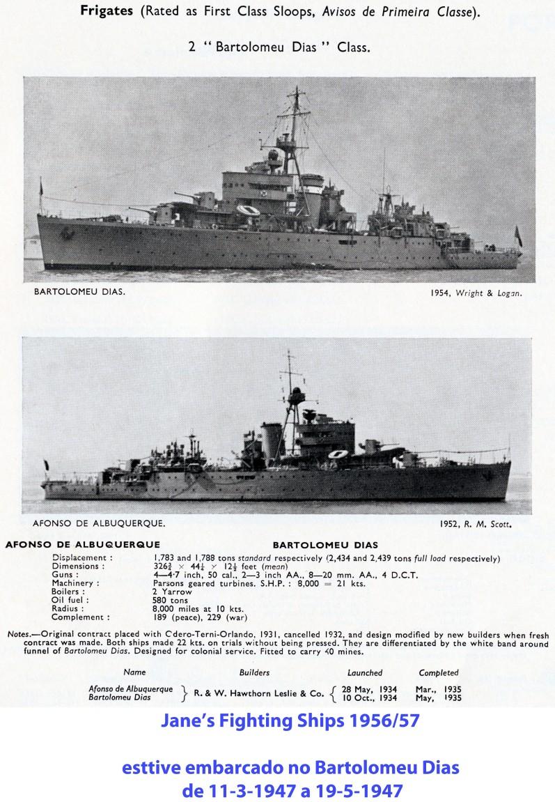 00127 Avisos de 1ª classe Bartolomeu Dias -Jane's Fighting Ships 1956-57