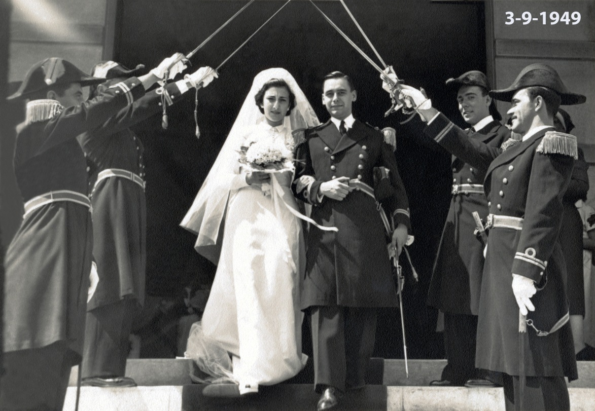 00178 949-09-03 casamento de António e Madalena-sob as espadas dos camaradas