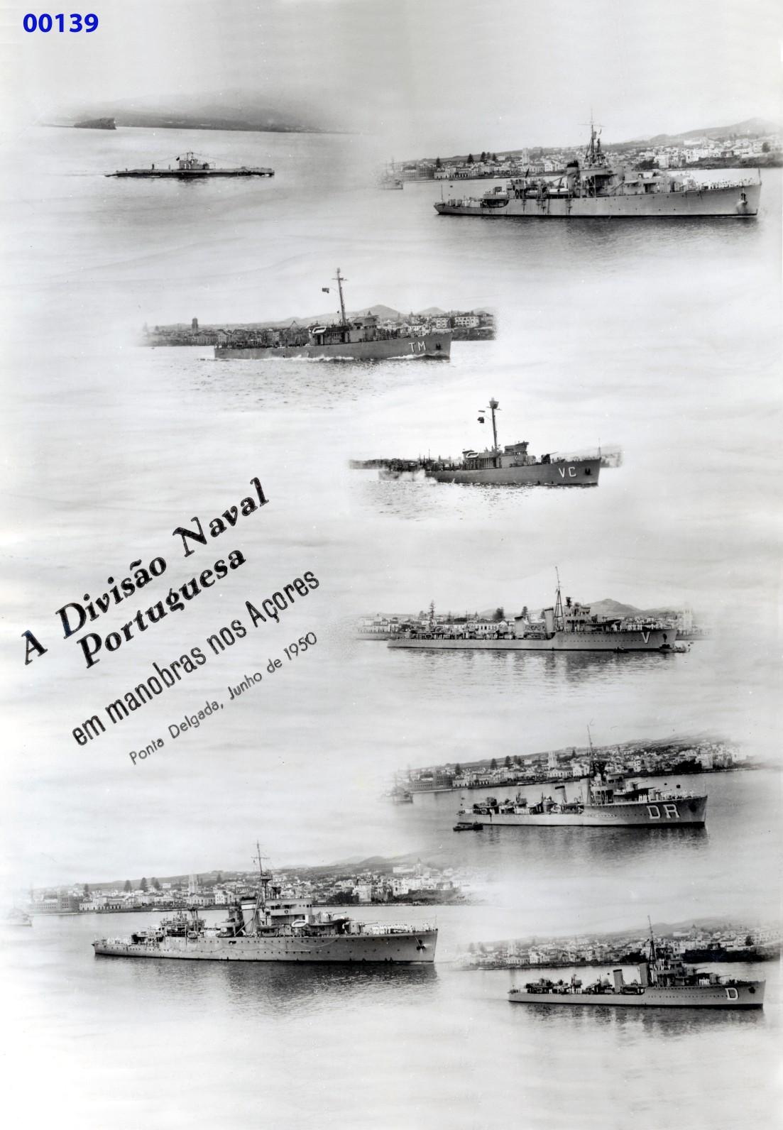 00187 950-06 os navios da Divisão Naval Portuguesa em manobras nos Açores-incluíndo a Nuno Tristão
