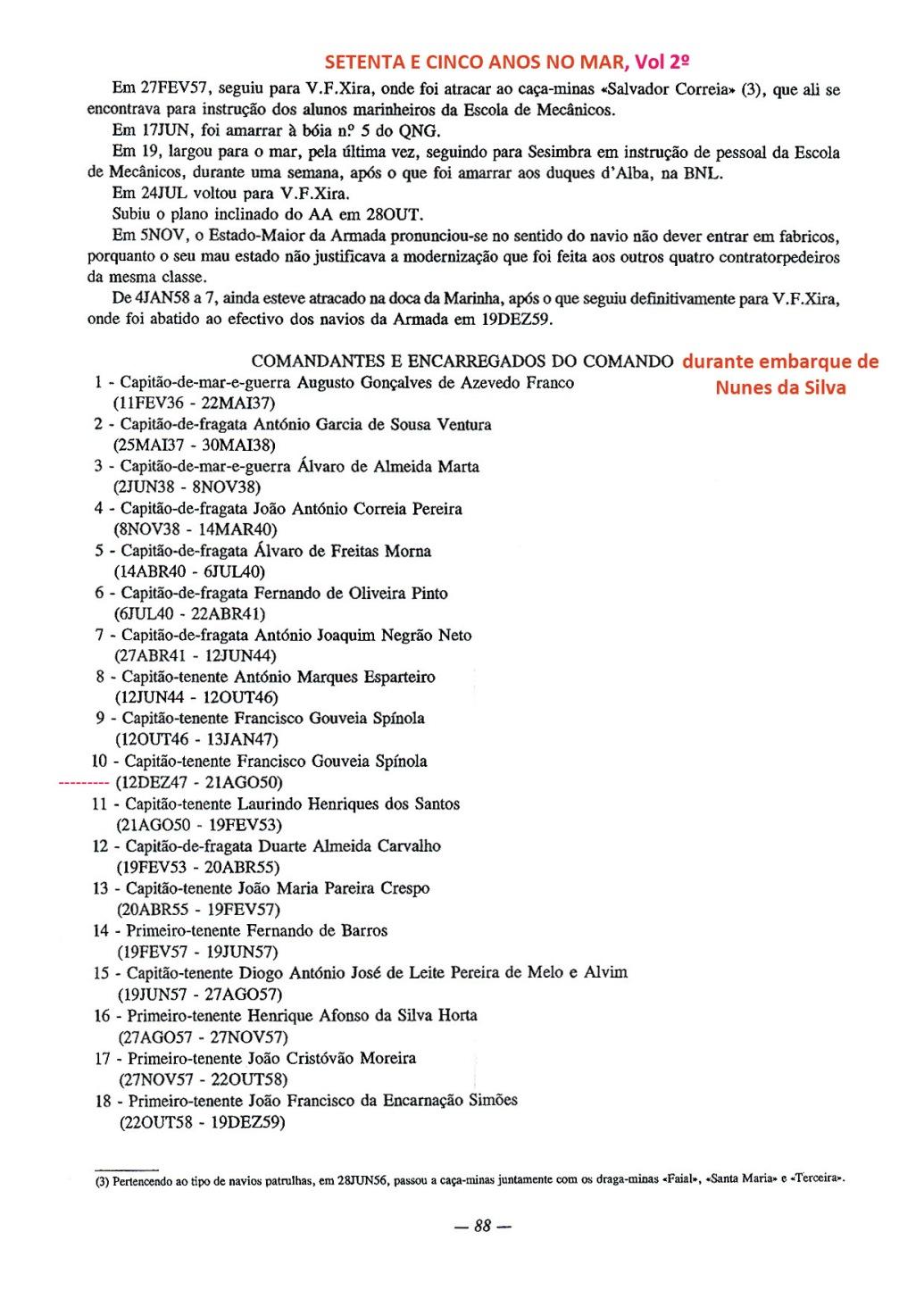 00195 Comandante do DOURO durante embarque de Nunes da Silva -Setenta e Cinco Anos no Mar,vol 2º