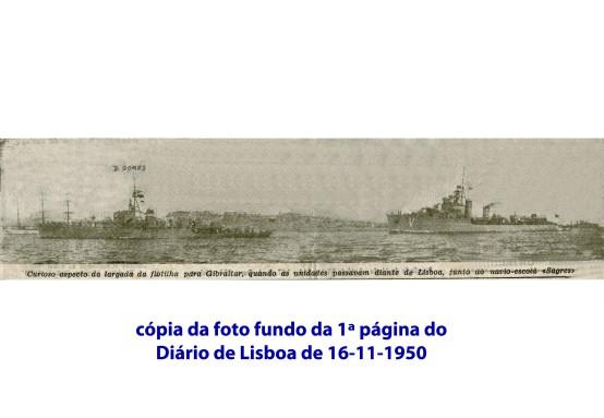00200 950-11-16 Notícia da partida dos navios portugueses para manobras com a Home Fleet - Diário de Lisboa fundo da 1ª página