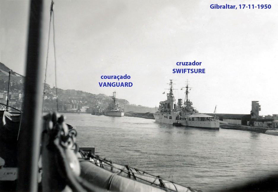 00205 950-11-17 Gibraltar-cuzador Swiftsure e couraçado Vanguard