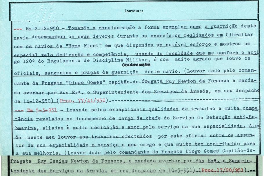 00213 951-03-05 louvor individual do comte da Diogo Gomes  cap frag Newton da Fonseca