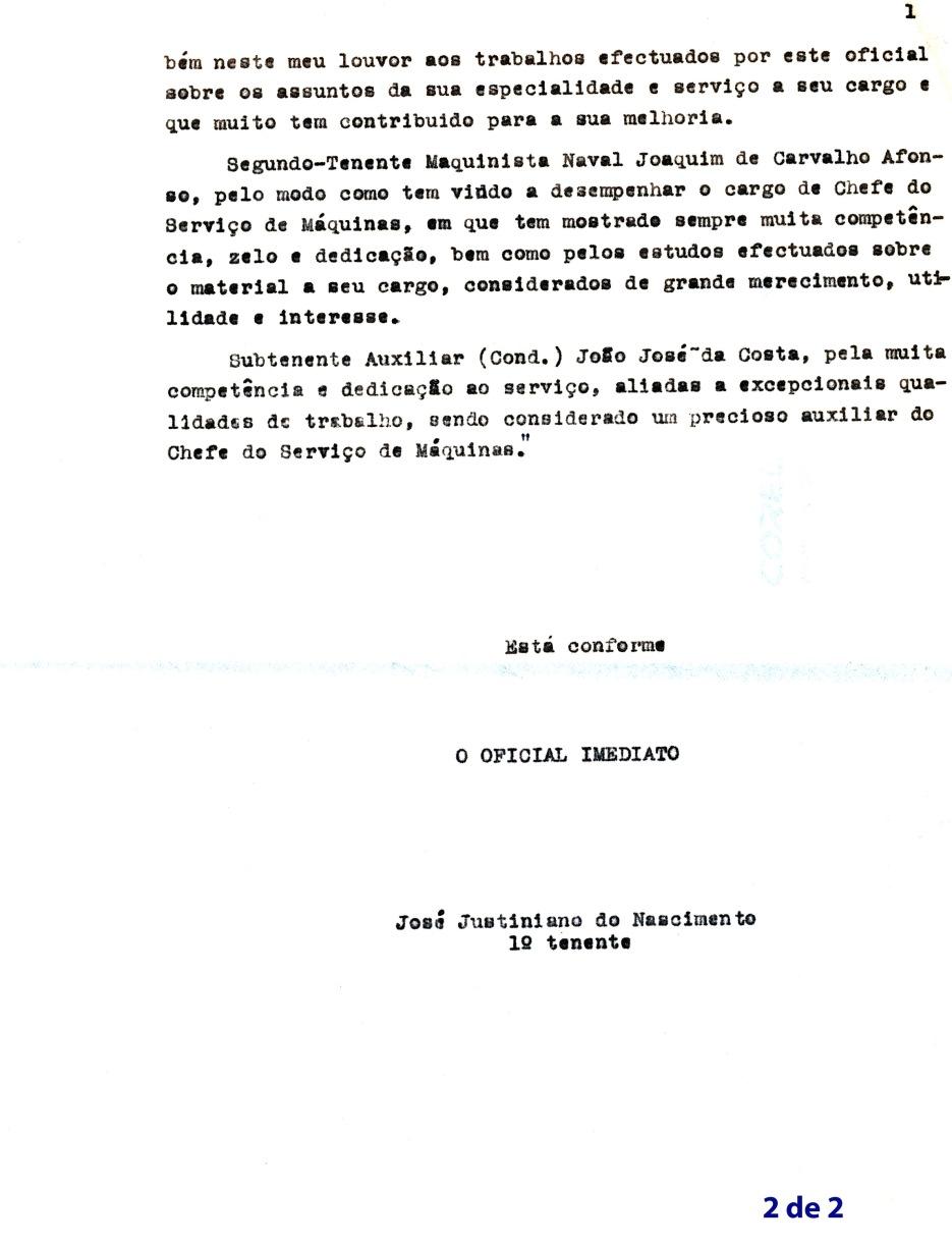 00215 951-03-07 teor completo do louvor individual do comte da Diogo Gomes  cap frag Newton da Fonseca pg 2 de 2