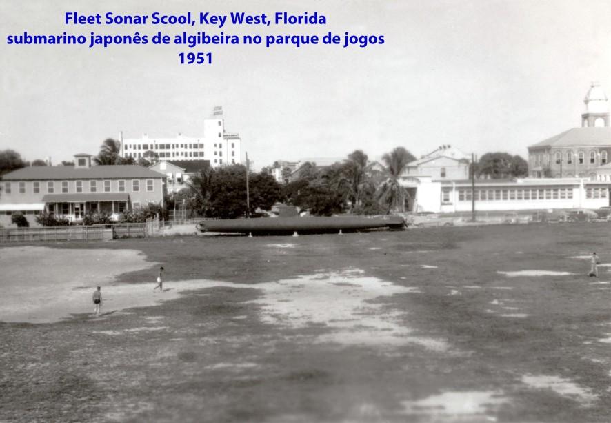 00221 951 Submarino de algibeira japonês no parque de jogos da Fleet Sonar School - Key West - Florida