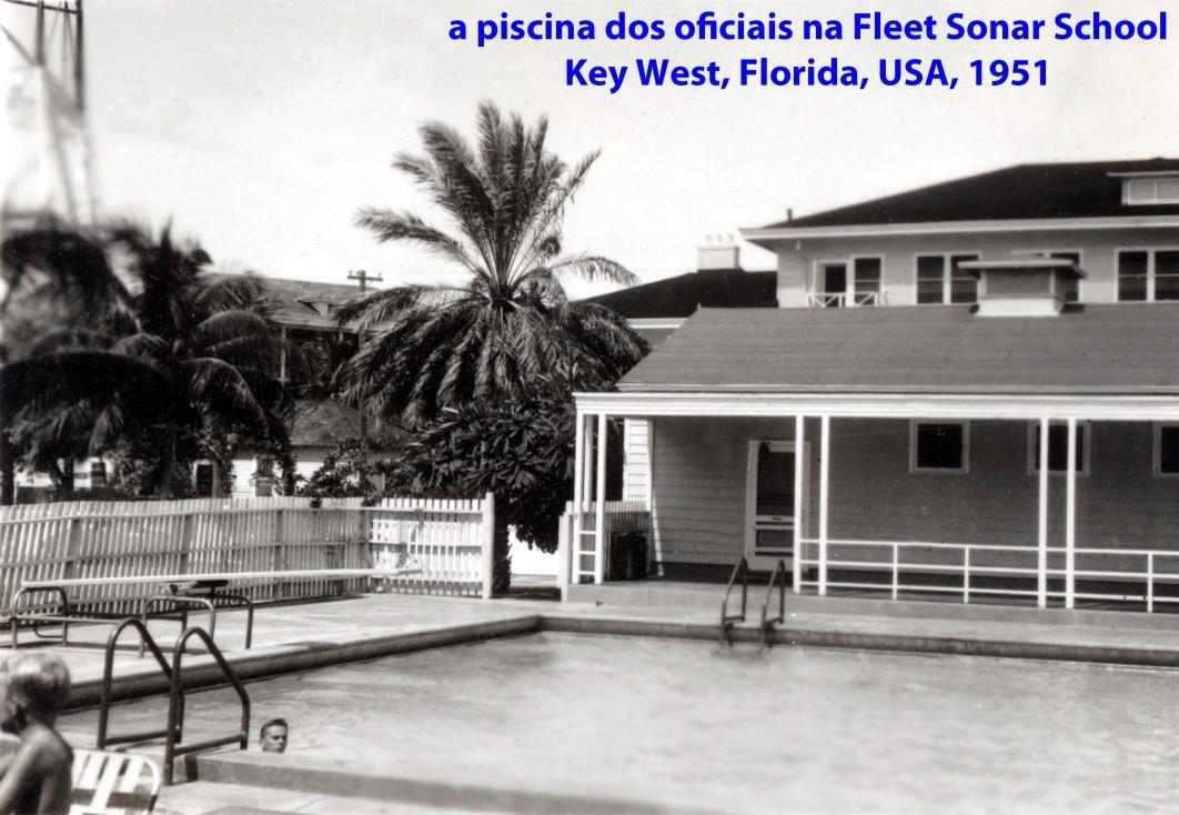 00223 951 a piscina dos oficiais da Fleet Sonar School em Key West - Florida - USA.