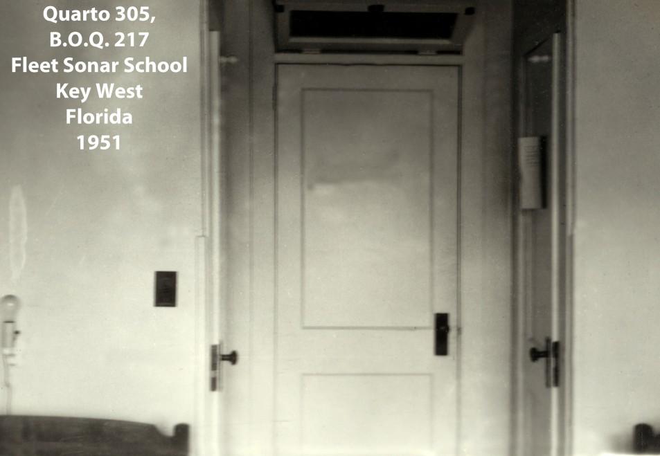 00226 951 quarto 305 do BOQ 217 na Fleet Sonar School