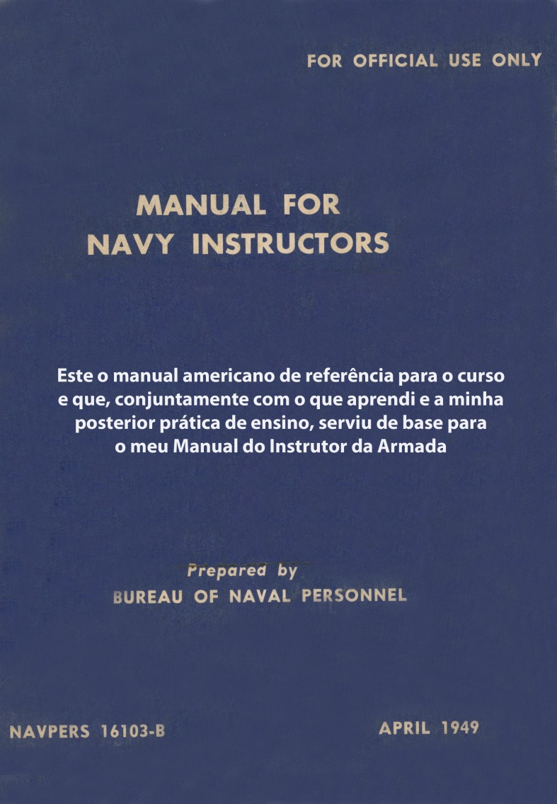 00230 951-10 Manual for Navy Instructors