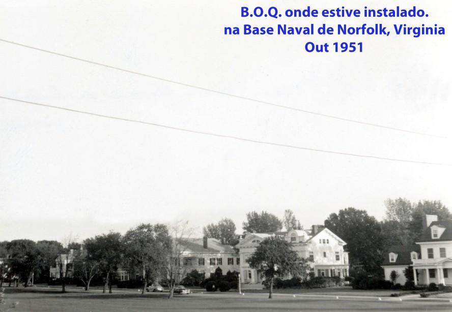 00231 951-10 BOQ onde estive instalado na Base Naval de Norfolk em Virginia