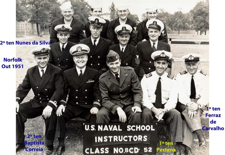 00233 951-10 alunos e instrutores do curso para Instrutores-Norfolk