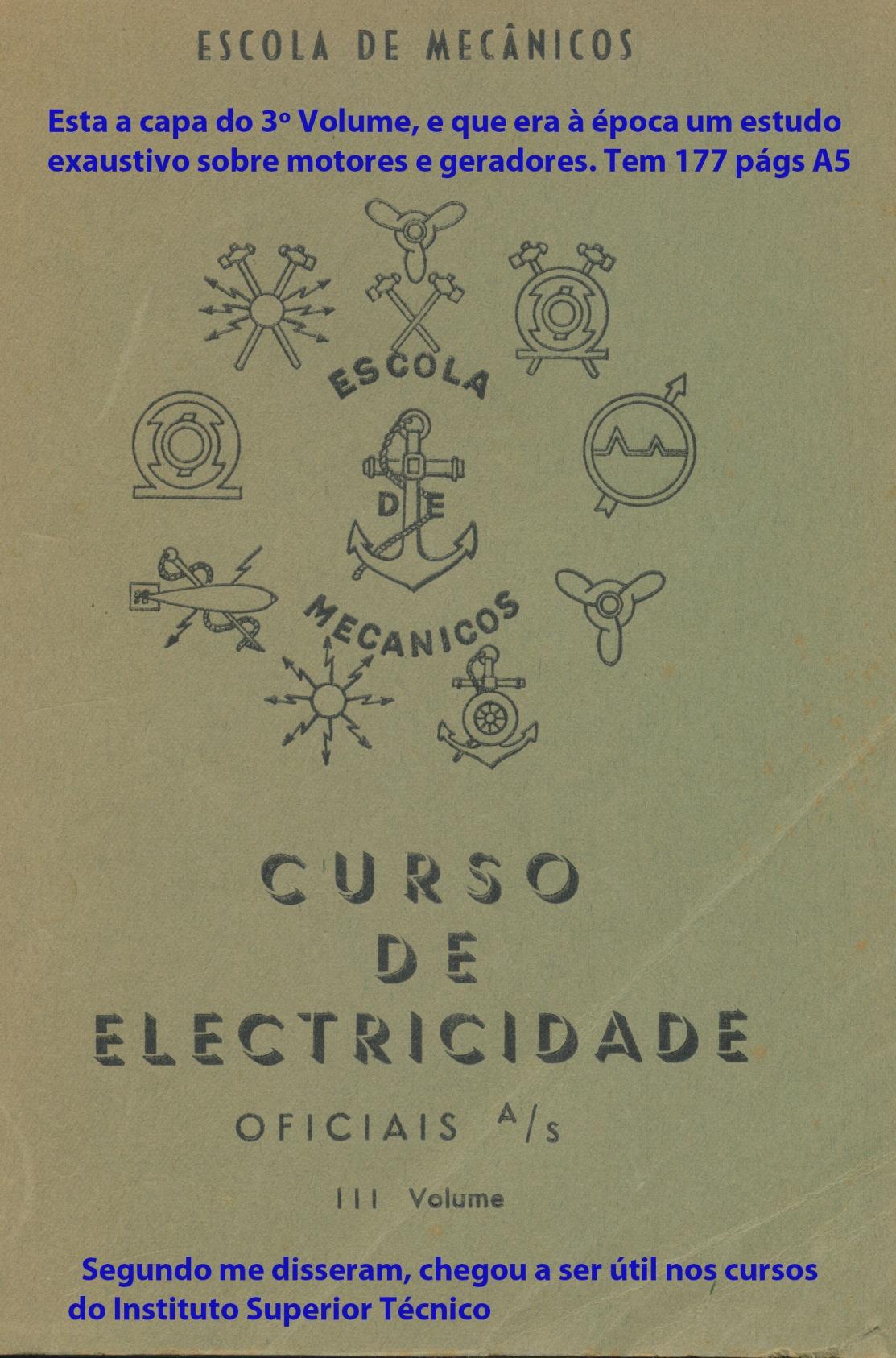 00250 952 Curso de Electricidade para oficiais AS Vol 3 - capa