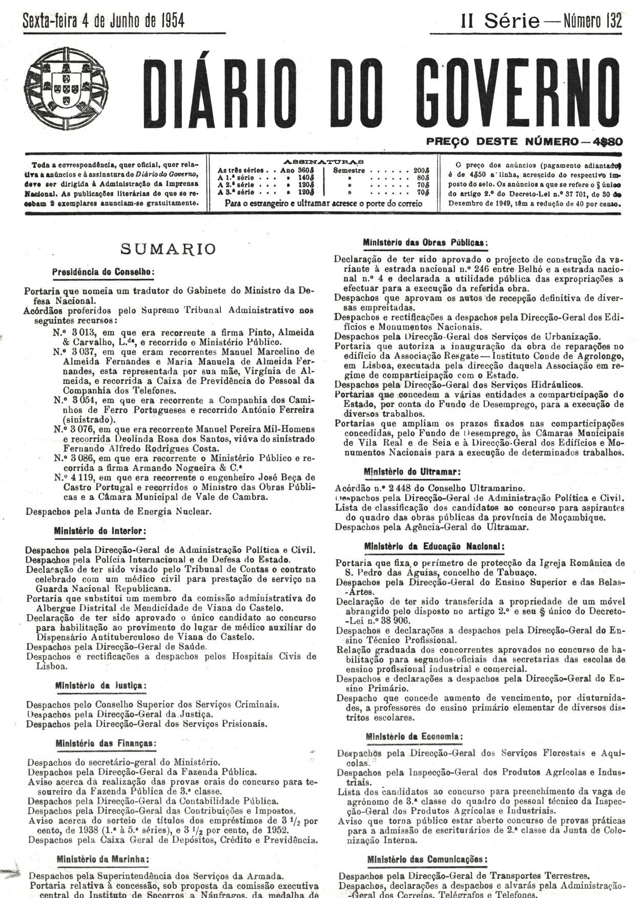 00268 954-05-08 Promovido a 1º tenente - DG II Ser 132 de 4-6-54 - Port de 26-5-54 - DG pg 3407