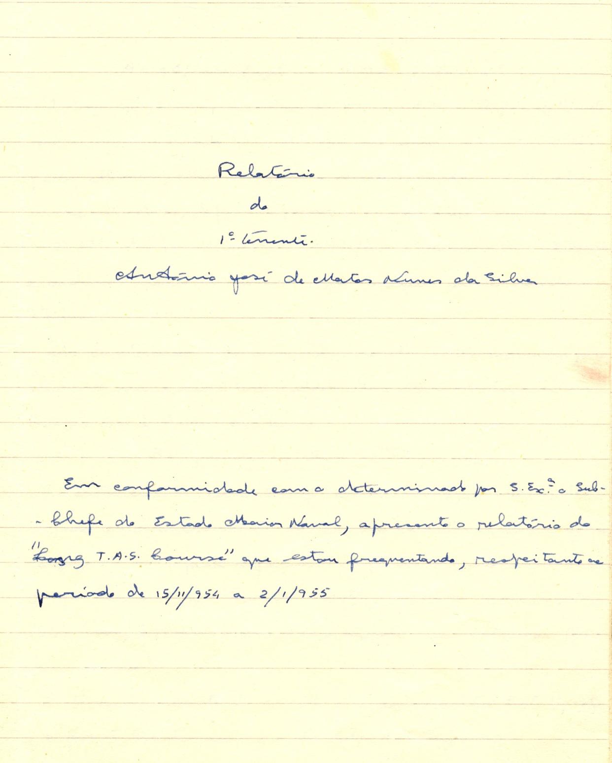 00277 955-01-02 extracto de cópia do meu 1º relatório de HMS Defience identificando alunos e instrutores -pg 1