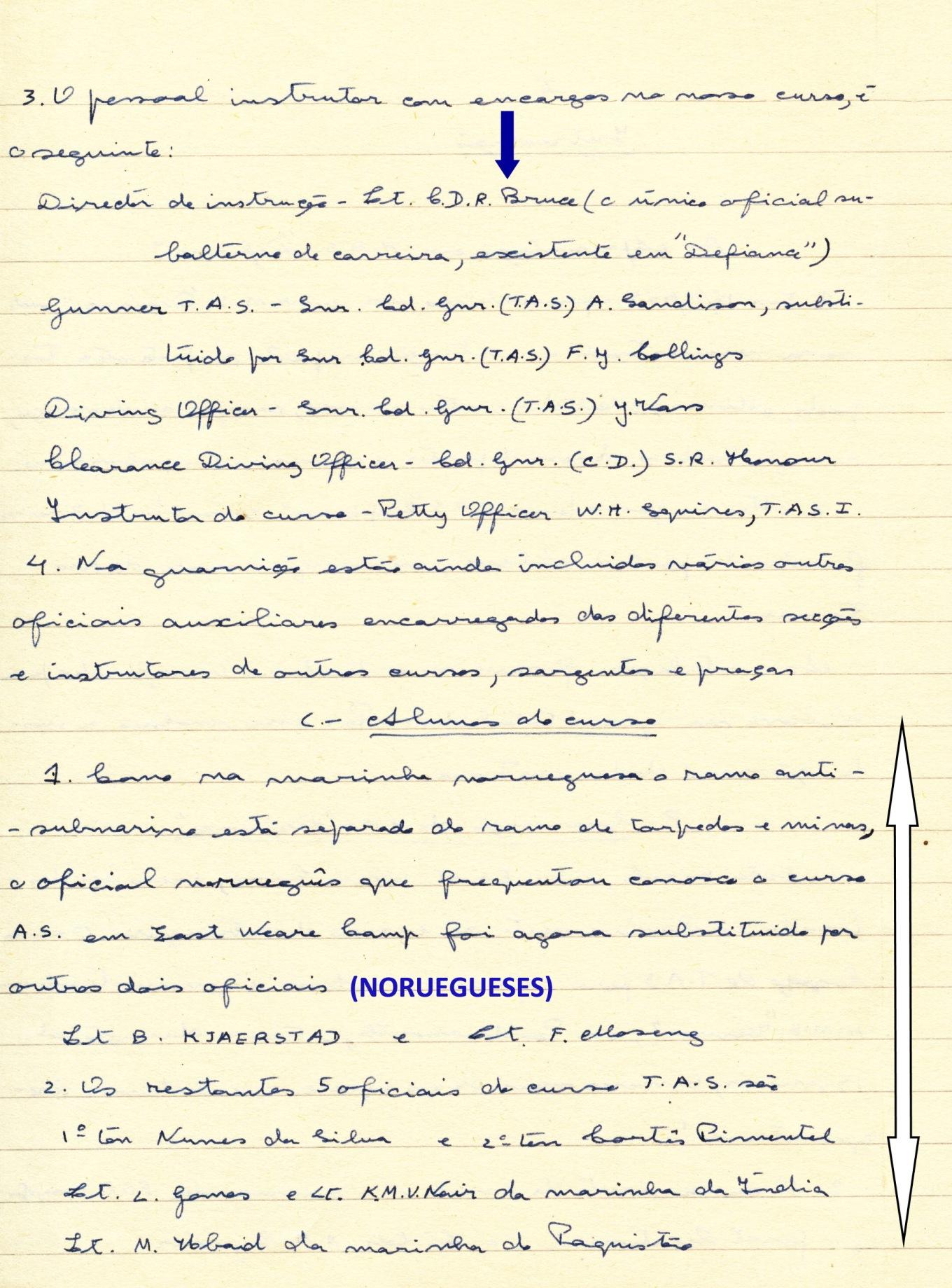 00278 955-01-02 extracto de cópia do meu 1º relatório de HMS Defience identificando alunos e instrutores -pg 2