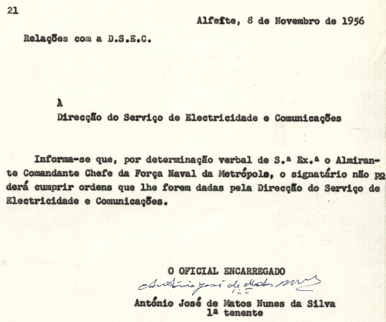 00300 956-11-08 nota a DSEC comunicando ordens de Almirante