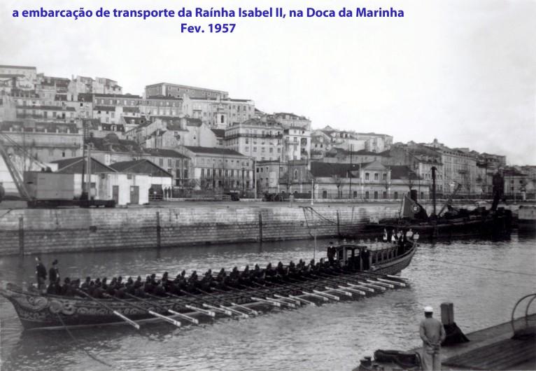 00305 957-02 embarcação de transporte da raínha Isabel II na Doca da Marinha
