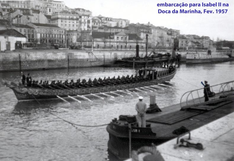 00306 957-02 embarcação para transporte da raínha Isabel II