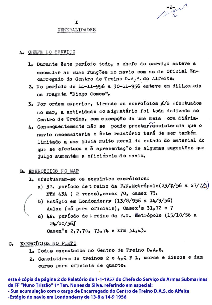 00308 957-01-01 cópia da pág 2 do Relatório do 1º Ten Nunes da Silva ao Comando da FF Nuno Tristão