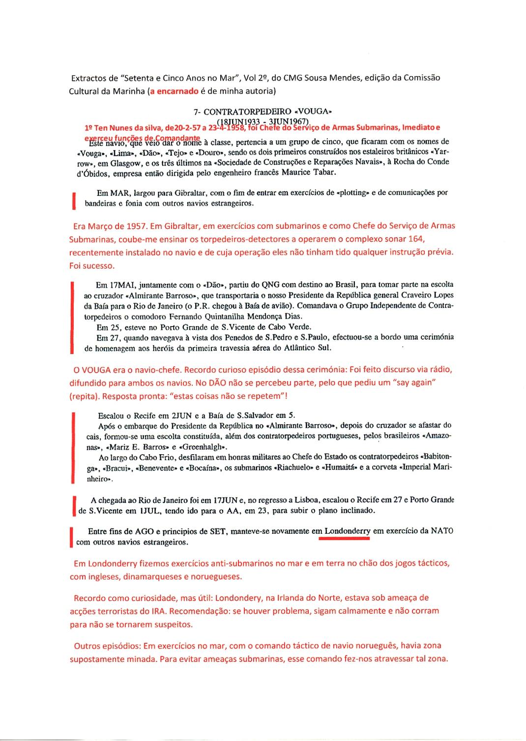 00311 Minhas comissões no VOUGA-Setenta e Cinco Anos no Mar, Vol 2º