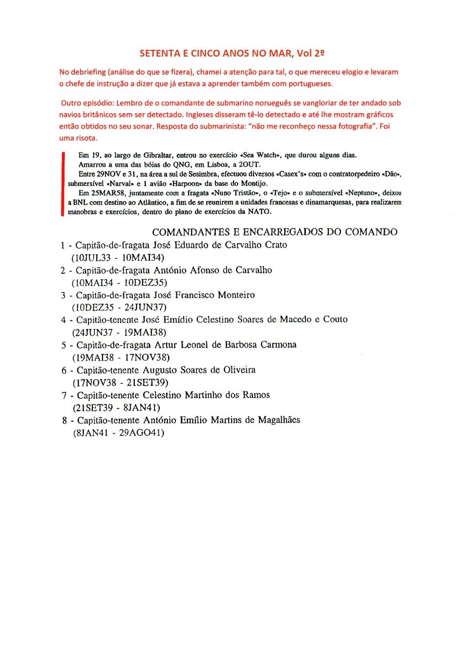 00312 Minhas comissões no VOUGA-Setenta e Cinco Anos no Mar, Vol 2º