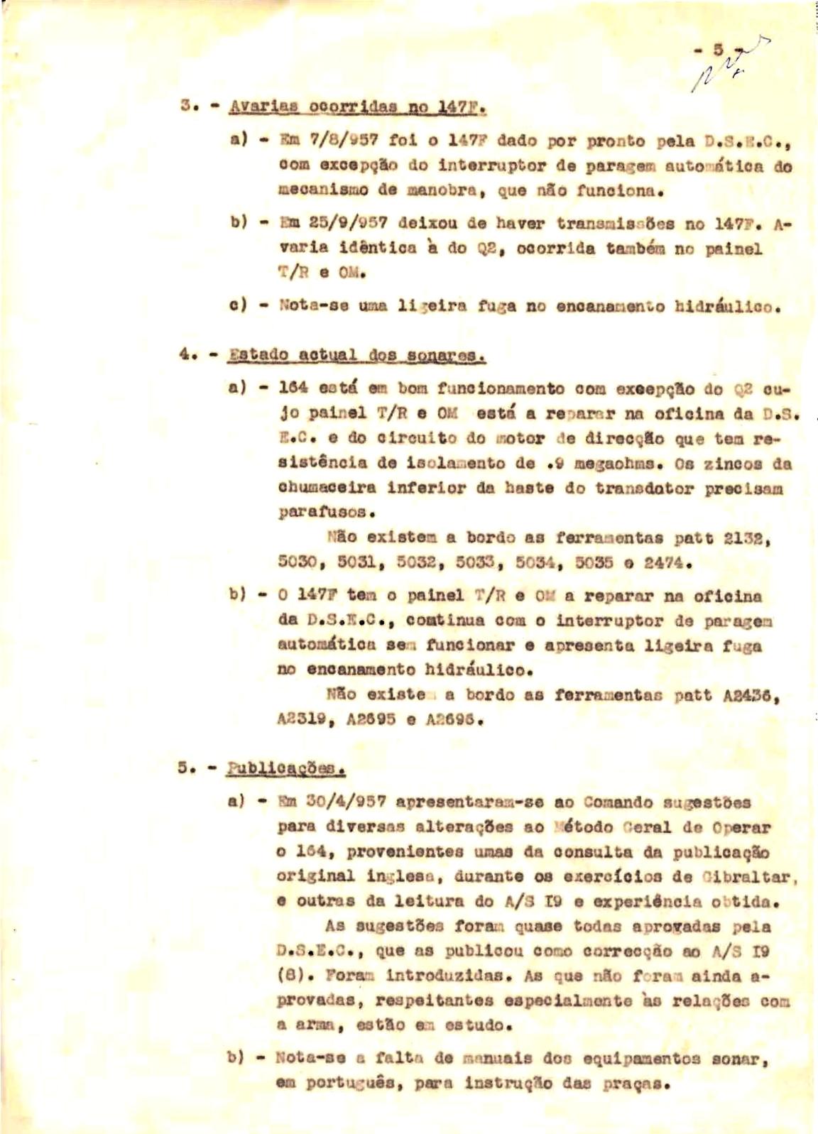 00342 57-10-21 cópia do Relatório do Chefe do Serviço de Armas Submarina do CT Vouga 1º Ten Nunes da Silva-5