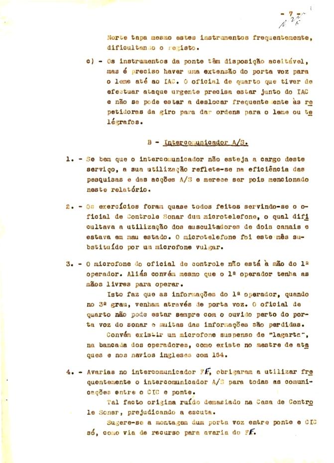 00344 57-10-21 cópia do Relatório do Chefe do Serviço de Armas Submarina do CT Vouga 1º Ten Nunes da Silva-7