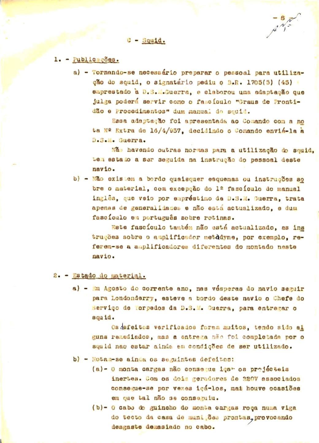 00345 57-10-21 cópia do Relatório do Chefe do Serviço de Armas Submarina do CT Vouga 1º Ten Nunes da Silva-8