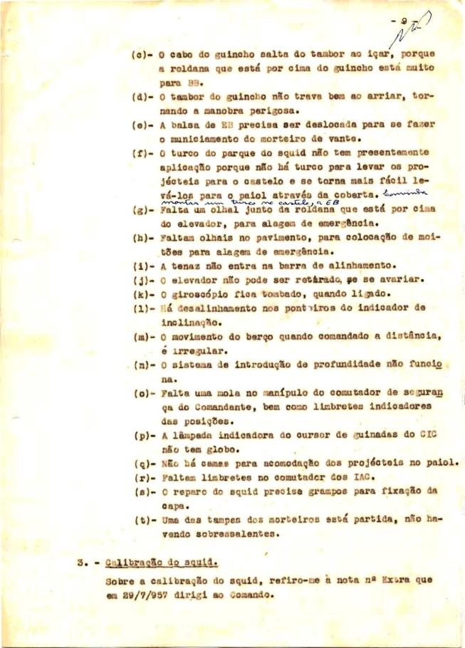 00346 57-10-21 cópia do Relatório do Chefe do Serviço de Armas Submarina do CT Vouga 1º Ten Nunes da Silva-9