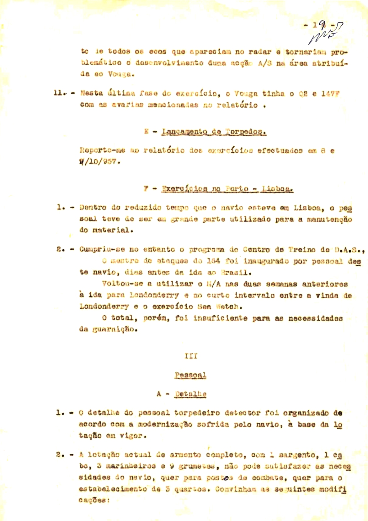 00356 57-10-21 cópia do Relatório do Chefe do Serviço de Armas Submarina do CT Vouga 1º Ten Nunes da Silva-19