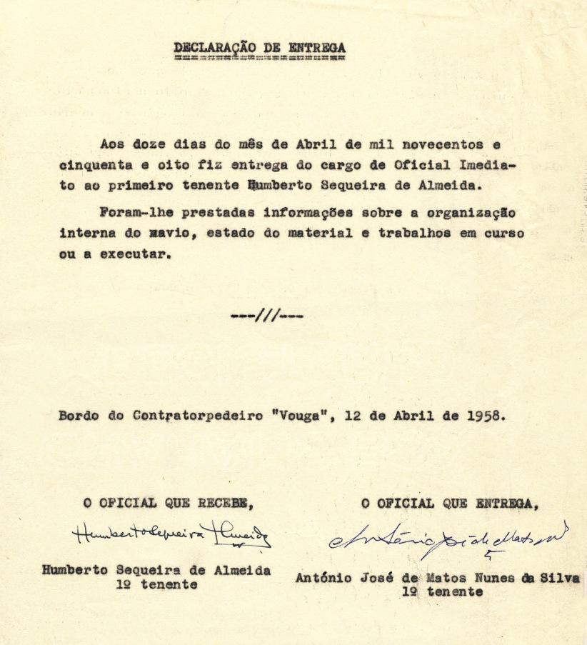 00363 958-04-12 Declaração de entrega do cargo de Imediato do CT Vouga