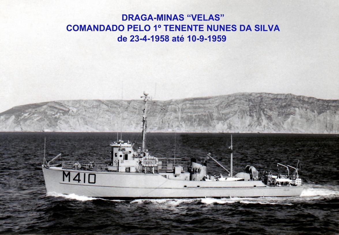 00378 958 e 959 Draga-Minas Velas M410 comandado pelo 1º Tenente Nunes da Silva