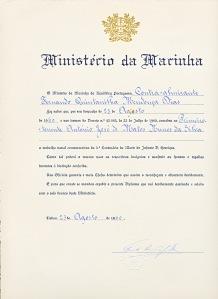 00402 960-08-23 5º Centenário da Morte do Infante D Henrique -  medalha naval comemorativa do 1º  ten Nunes da Silva - face