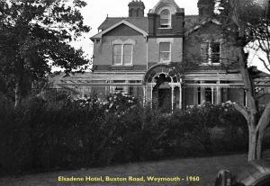 00404 960 Elsadene Hotel onde me alojei durante curso de Táctica A S em HMS Osprey- Buxton Road-Weymouth