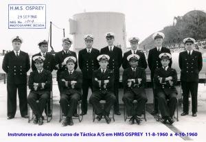 00405 Instrutores e alunos do curso de Táctica A S em HMS OSPREY  11-8-1960  a  4-10-1960