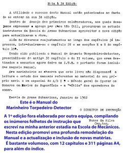 00408 961-01 Elaboração da 3ª edição do Manual do Marinheiro Torpedeiro-Detector com 311 páginas