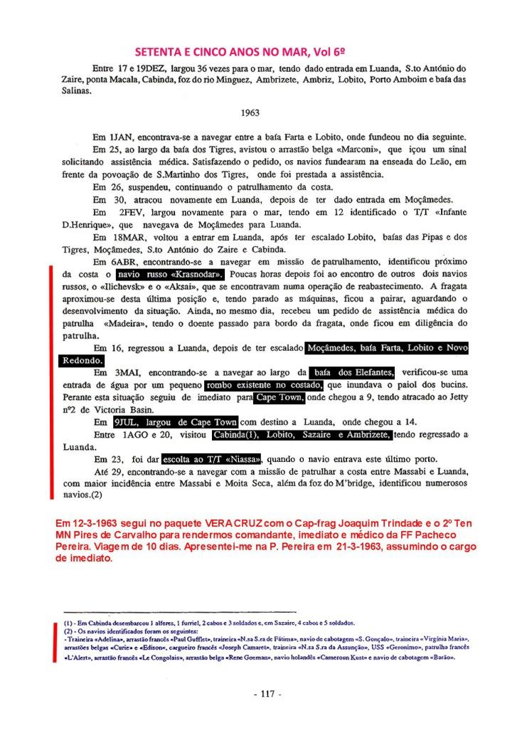 00424 Comissão em Angola e Moçambique como Imediato da FF Pacheco Pereira-Setenta e Cinco Anos no Mar, Vol 6º