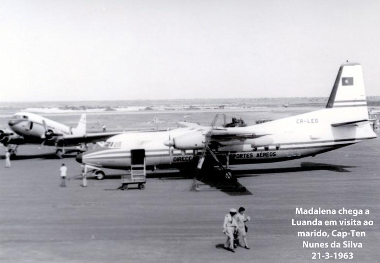00425 963-07-13 Madalena, esposa do Cap-Tenente Nunes da Silva chega a Luanda para curta visita ao marido