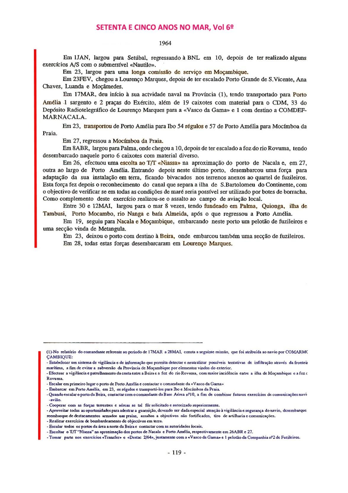 00427 Comissão em Angola e Moçambique como Imediato da FF Pacheco Pereira-Setenta e Cinco Anos no Mar, Vol 6º