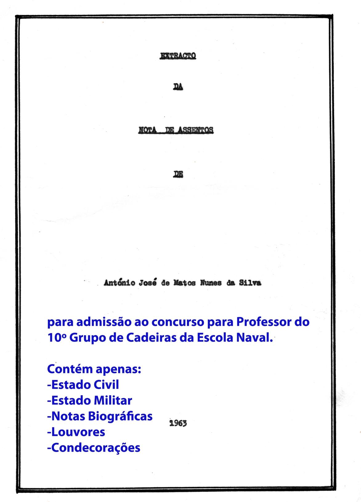 00436 963 extrato da minha Nota de Assentamentos para o concurso para Professor da EN