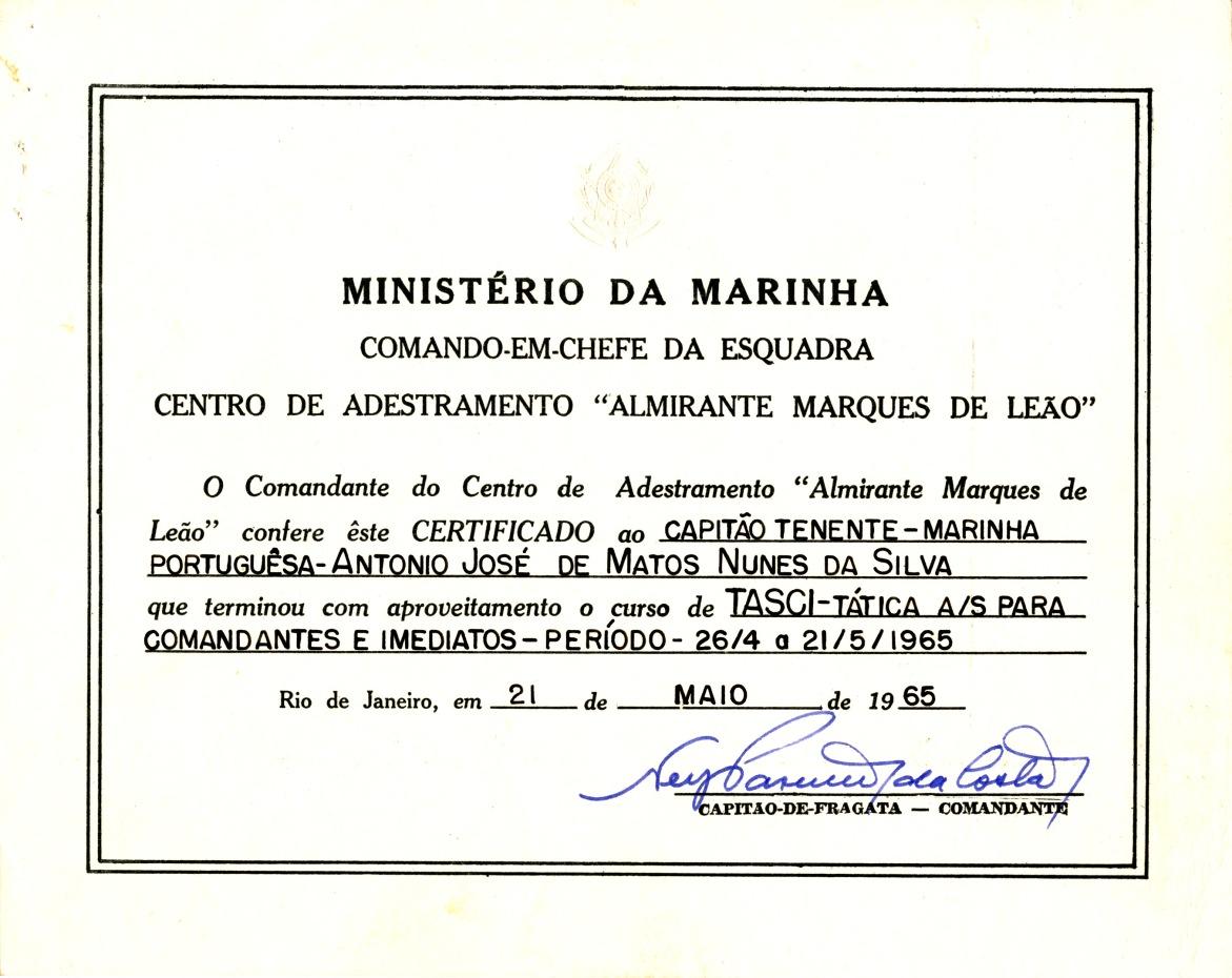 00448 965-05-21 Diploma da conclusão com aproveitamento do curso TASCI