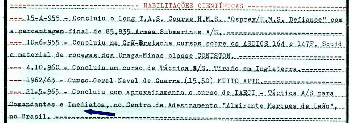 00449 965-05-21 Concluí curso TASCI Táctica AS para Comandantes e Imediatos no Centro de Adestramento Marques de Leão