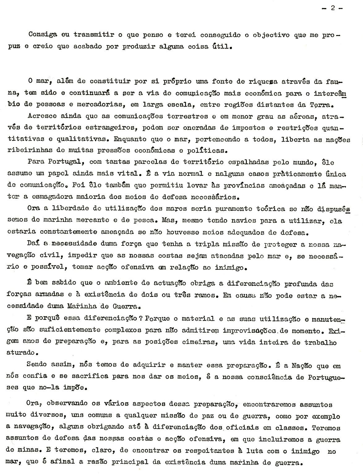 00455 965-11-09 Lição inaugural do ano lectivo da Escola Naval pelo Professor Cap-ten Nunes da Silva pág 2 de 7