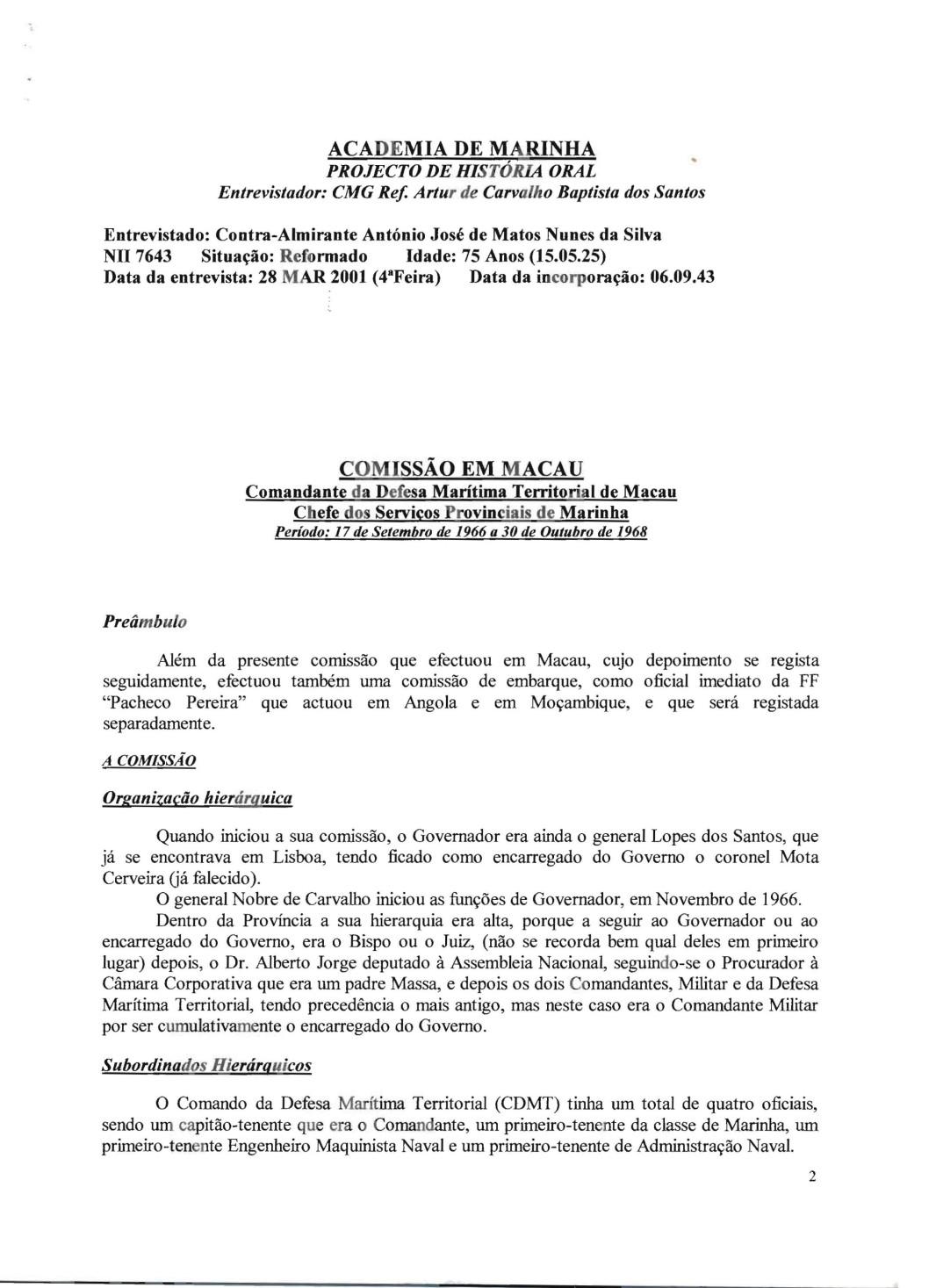 00467 01-03-28 Academia de Marinha-Entrevista do Alm Nunes da Silva pg 2 de 12