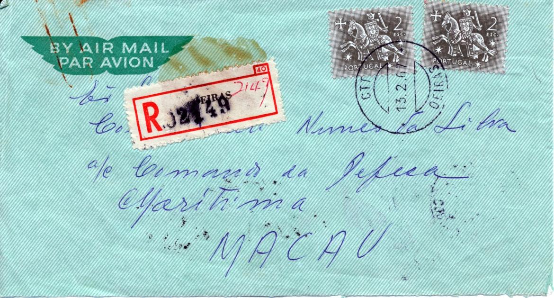 00491 967-02-12 envelope da carta de C de Barros de 12-2-67 face