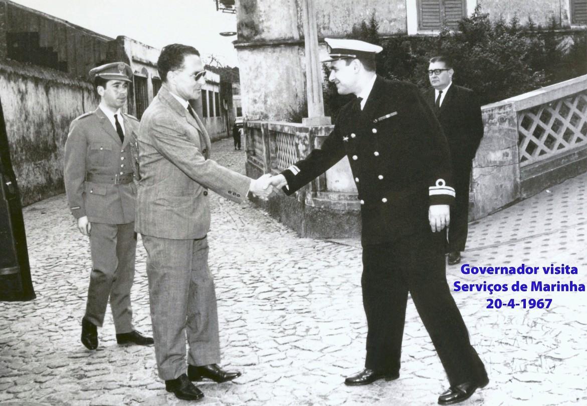 00497 967-04-20 Governador visita e é recebido pelo Chefe dos Serviços de Marinha